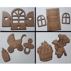 Mdf dekoratív miniatűrök