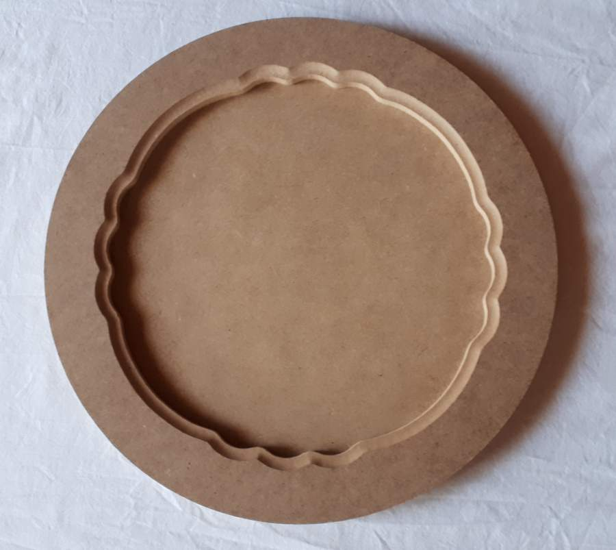 MDF kör alakú tálca