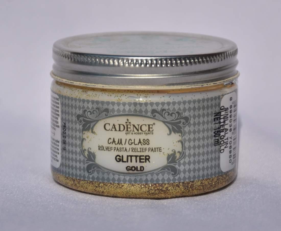 Glass glitter paszta - arany