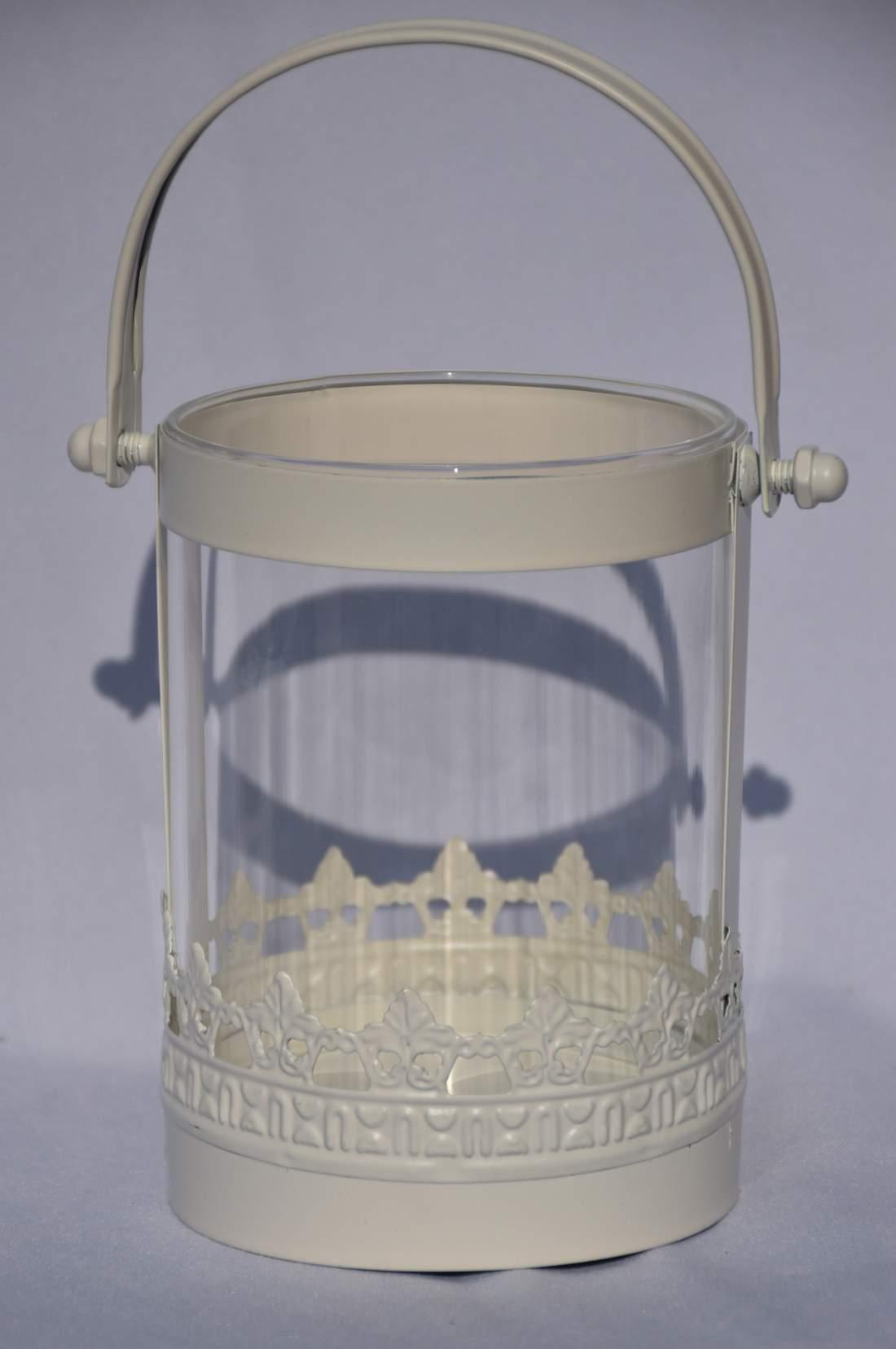 Üveg mécsestartó