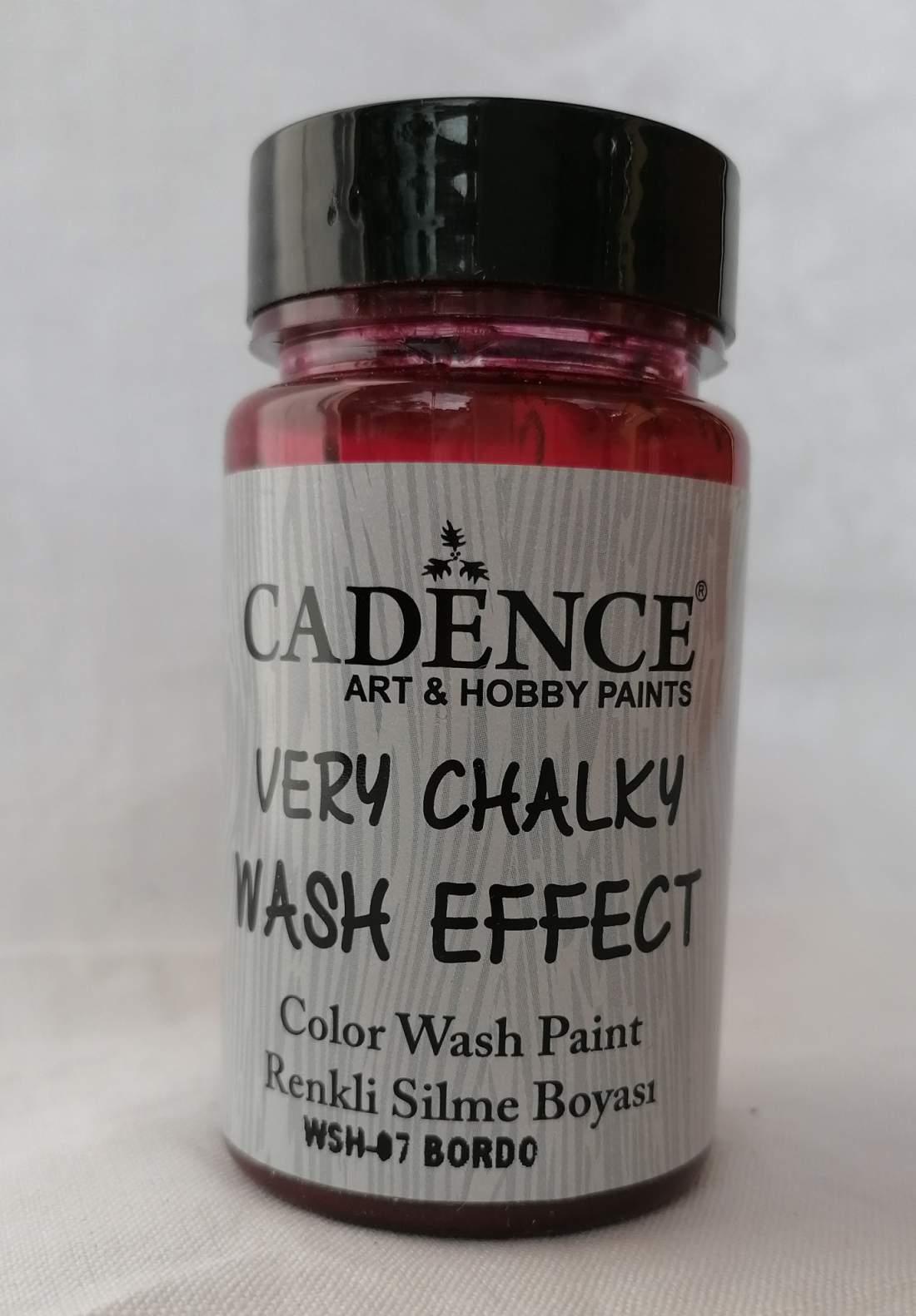 Very chalky wash effekt - bordó