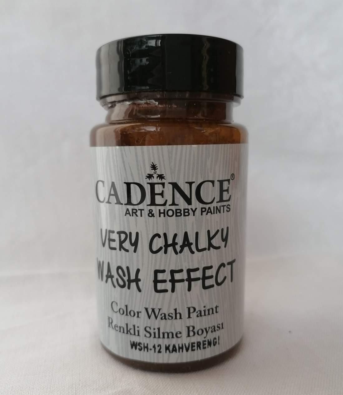 Very chalky wash effekt - barna
