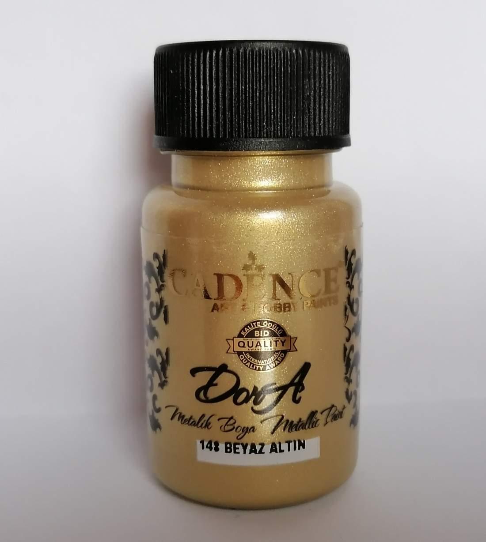 Dora perla metál festék - fehérarany