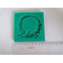 Szilikon forma - virágkoszorú