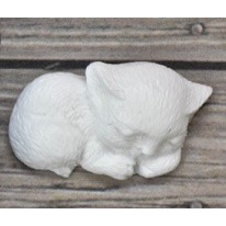 Szilikon forma - alvó cica