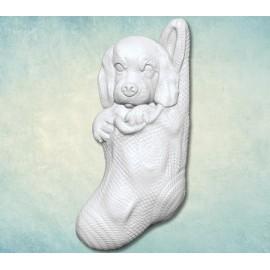 Szilikon forma - kutya zokniban