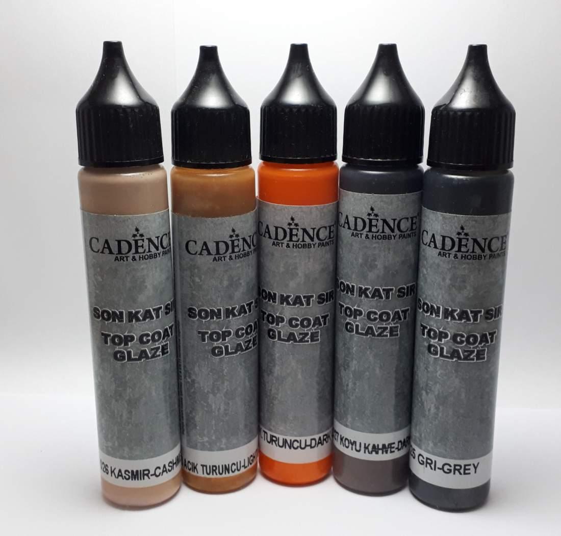 Top coat glaze - színező folyékony máz  kőpasztához
