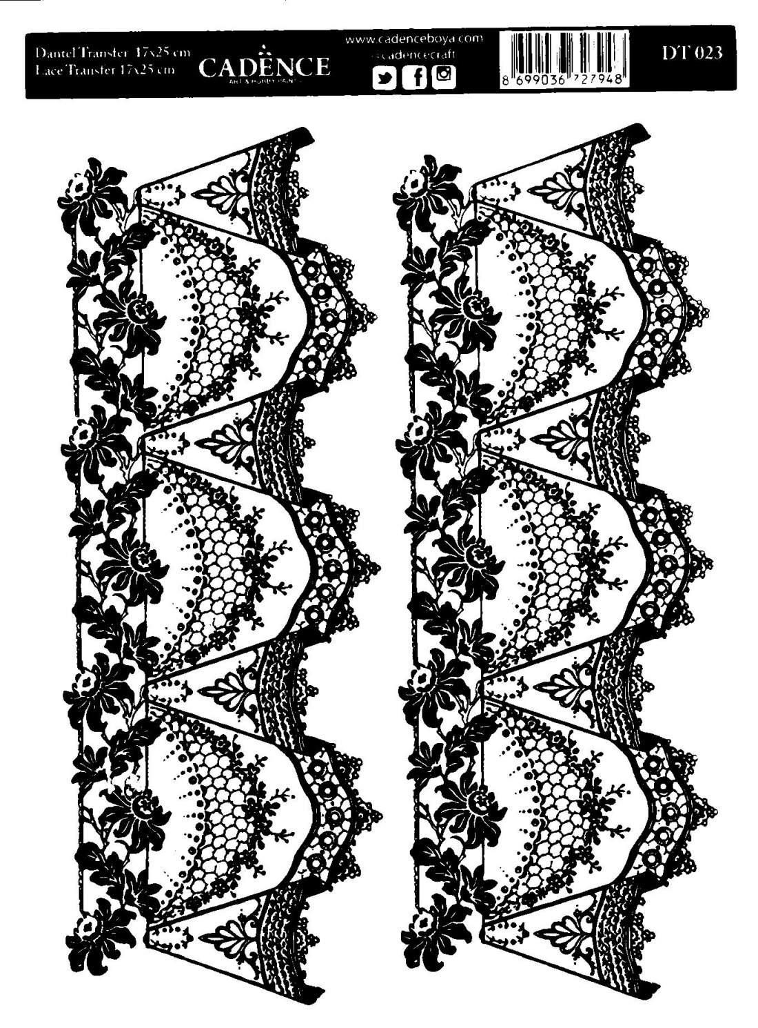 Csipketranszfer - Fekete - DT023