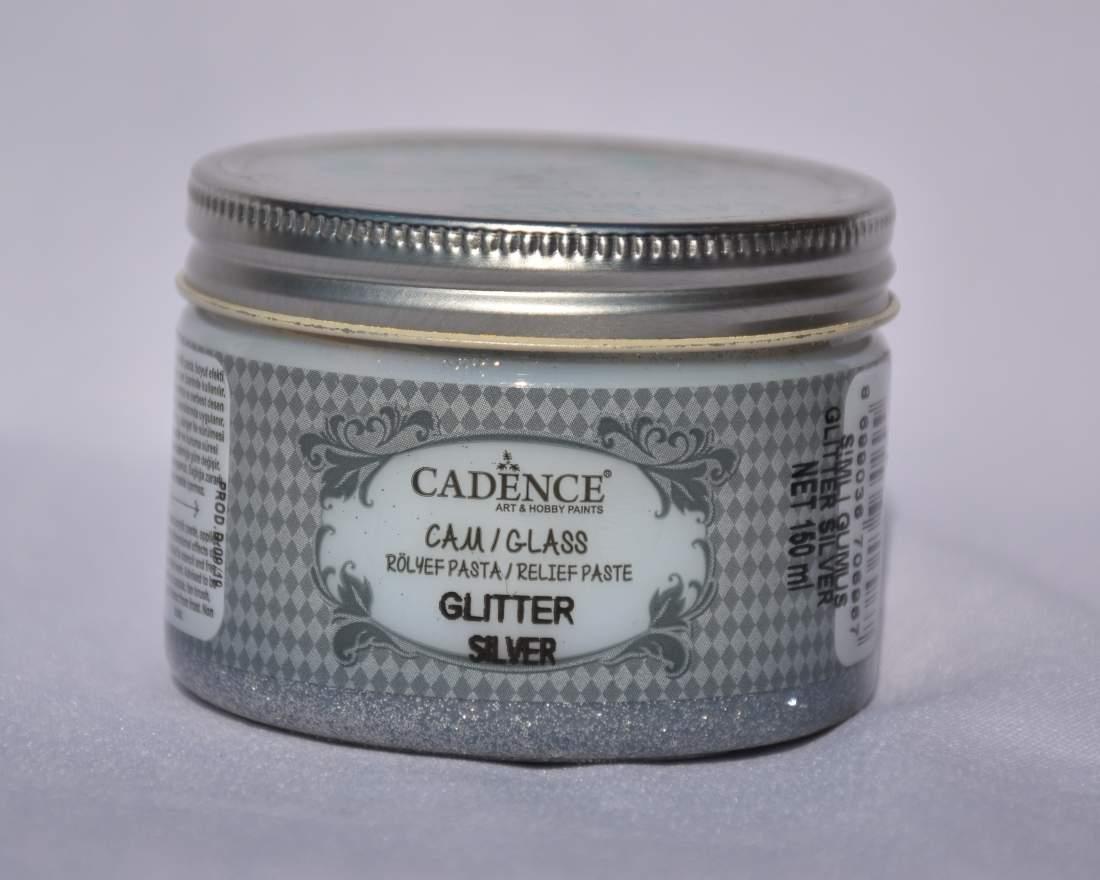 Glass glitter paszta - ezüst