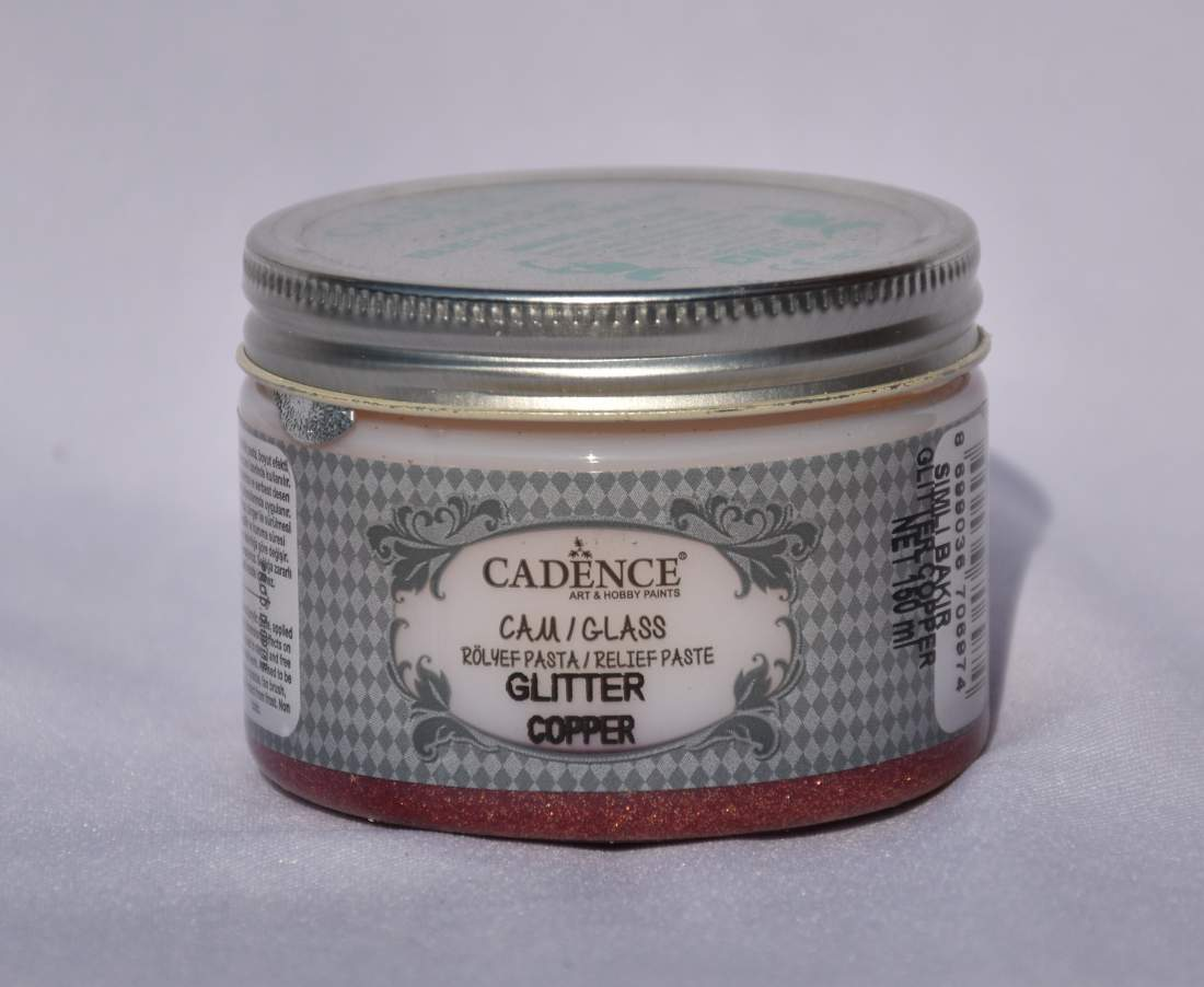 Glass glitter paszta - bronz