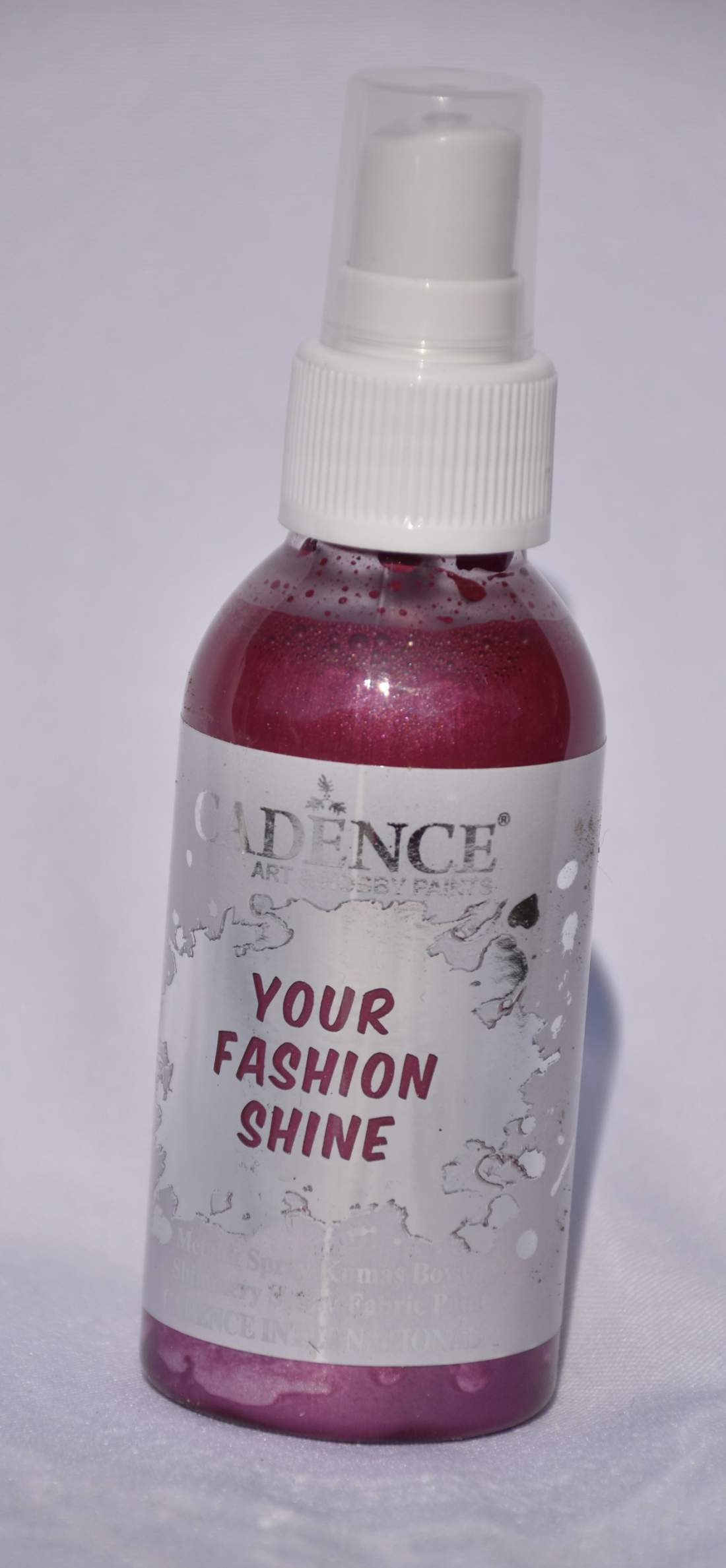 Your fashion metál textil spray - bordó