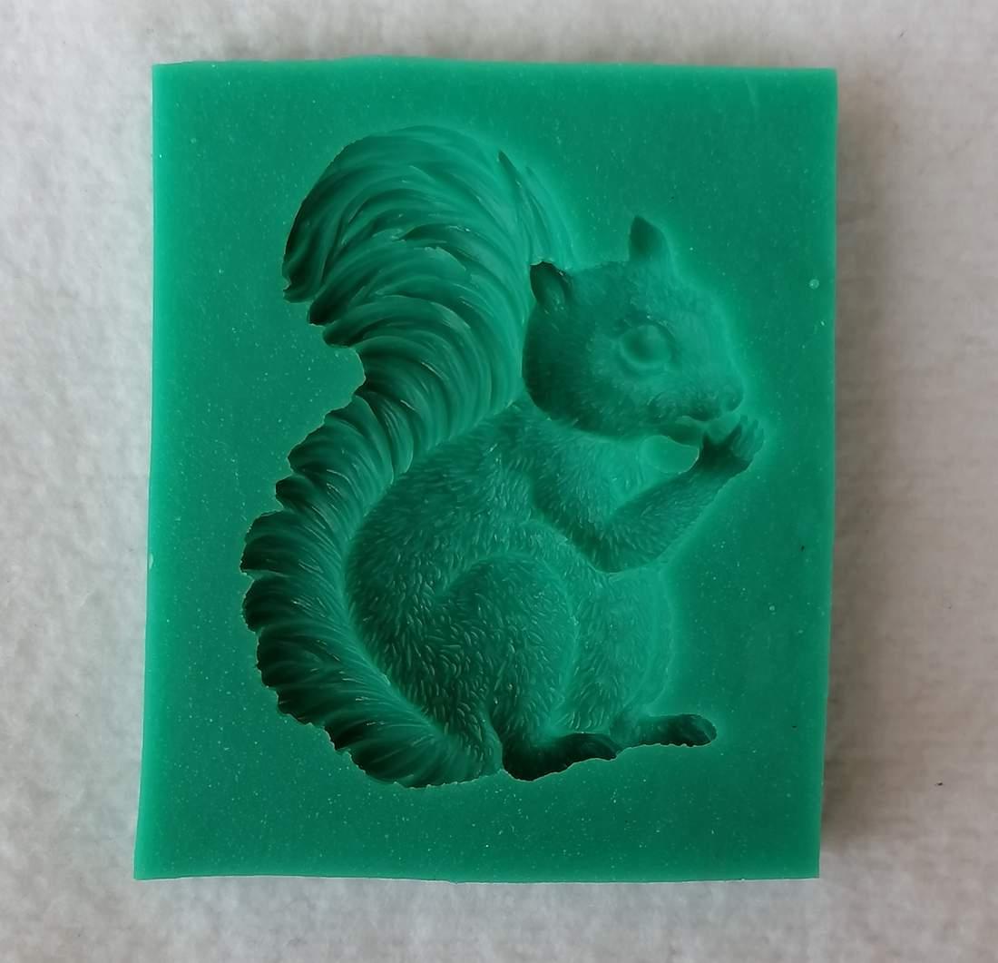 Szilikon forma - mókus
