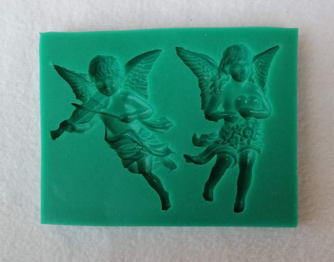 Szilikon forma - angyal hegedűvel és szívvel