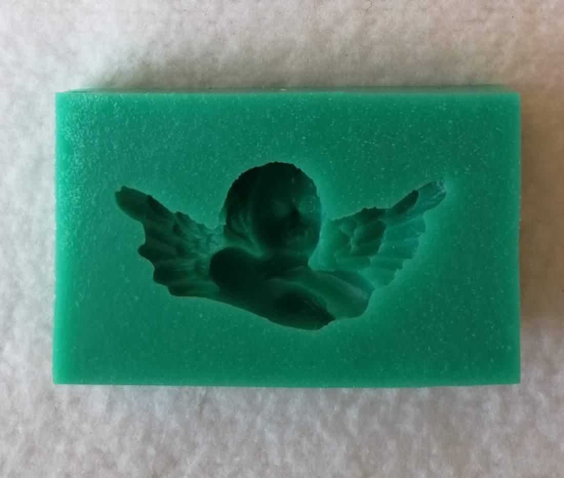 Szilikon forma - gondolkodó angyal